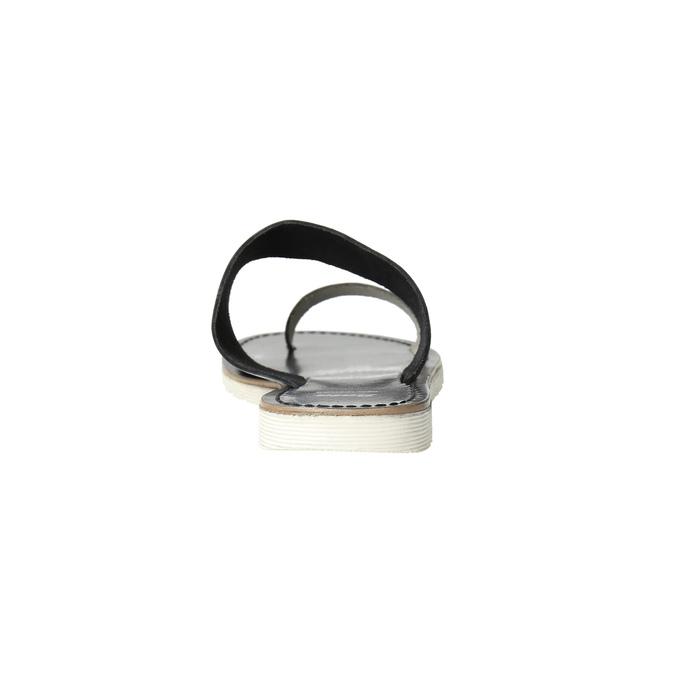 Dámske kožené nazuváky bata, čierna, 566-1614 - 17