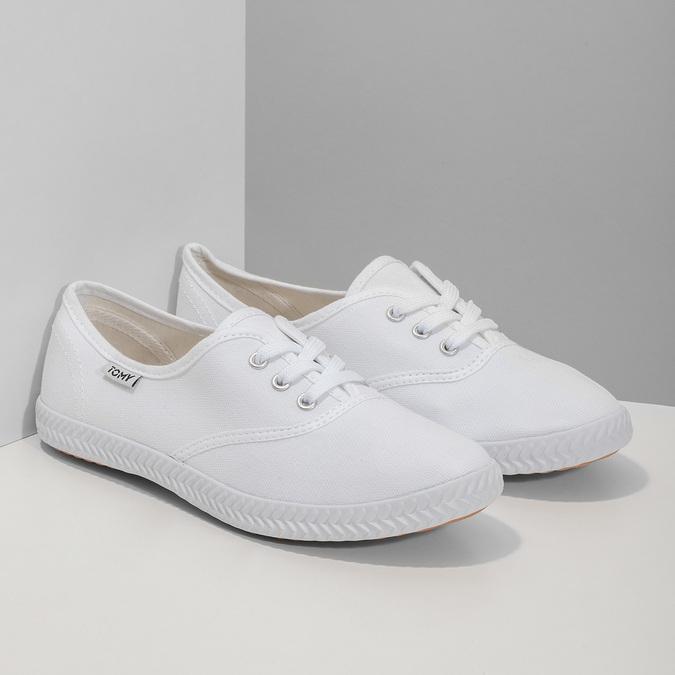 Dámske biele tenisky tomy-takkies, biela, 589-1180 - 26