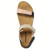 Kožené dámske sandále na suchý zips weinbrenner, ružová, 566-3630 - 19