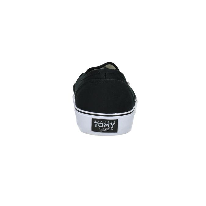 Čierne pánske Slip-on tomy-takkies, čierna, 889-6229 - 17