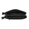 Menšia čierna kabelka s klopou bata, čierna, 961-6731 - 15