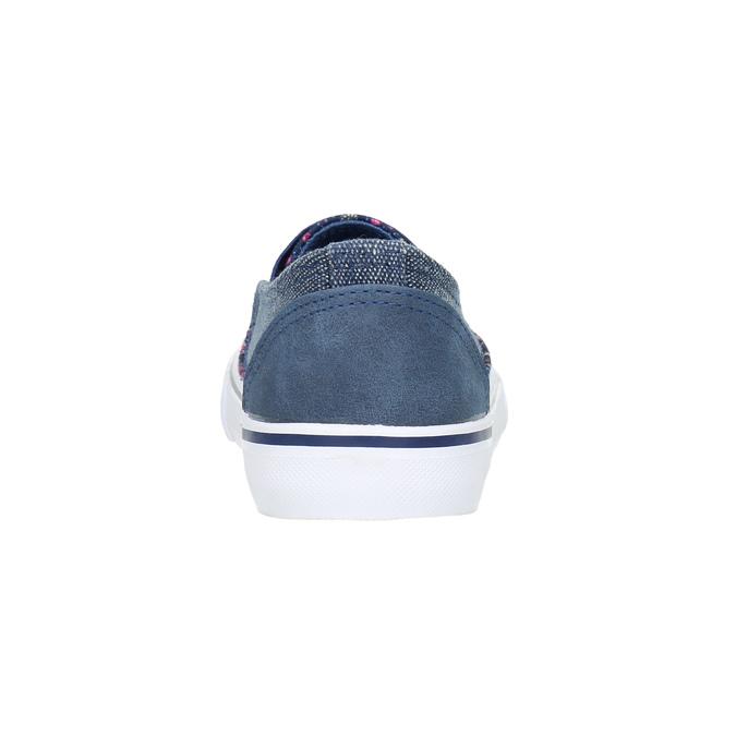 Dievčenská obuv v štýle Slip-on mini-b, modrá, 329-9611 - 17