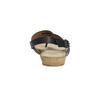 Korkové sandále s hadím vzorom bata, čierna, 561-6606 - 17