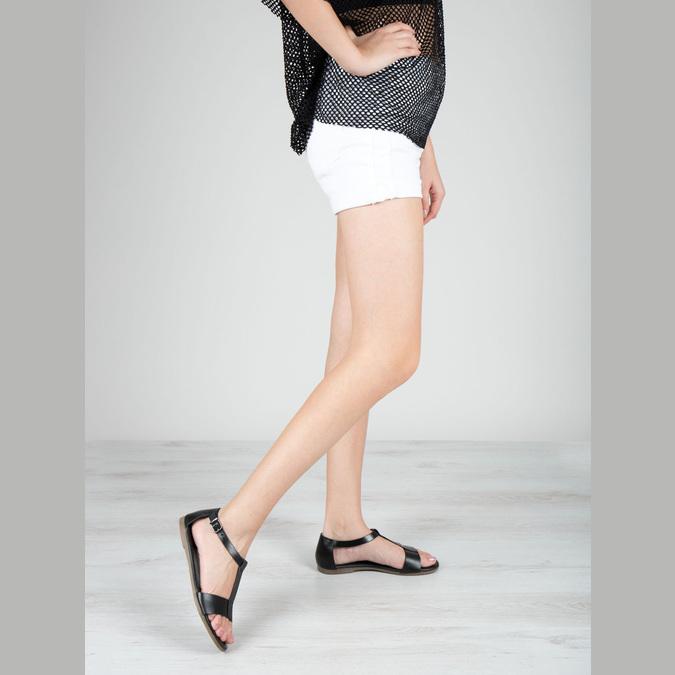 Čierne kožené sandále bata, čierna, 564-6600 - 18