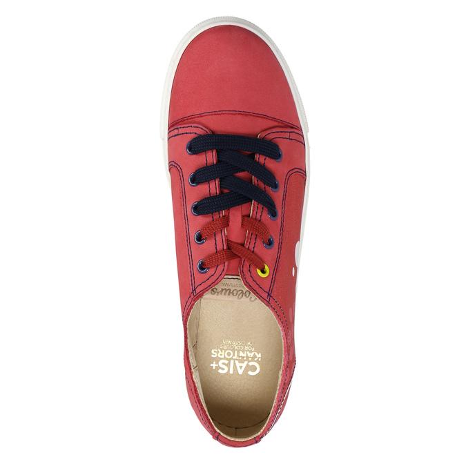 Kožené tenisky z limitovanej edície bata, červená, 546-5800 - 26
