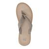 Dámske kožené žabky bata, šedá, 566-2607 - 19
