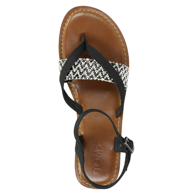 Dámske sandále medzi prsty toms, čierna, 561-6063 - 26