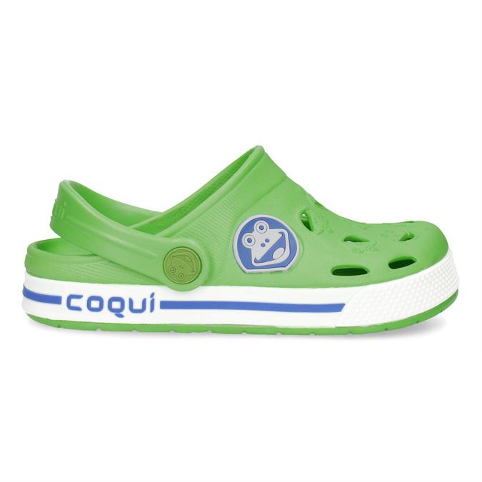 Detské zelené sandále so žabkou coqui, zelená, 272-7603 - 19