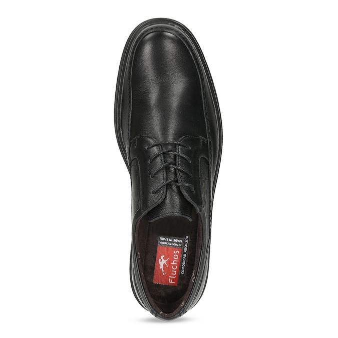 Pánske kožené poltopánky fluchos, čierna, 824-6448 - 17