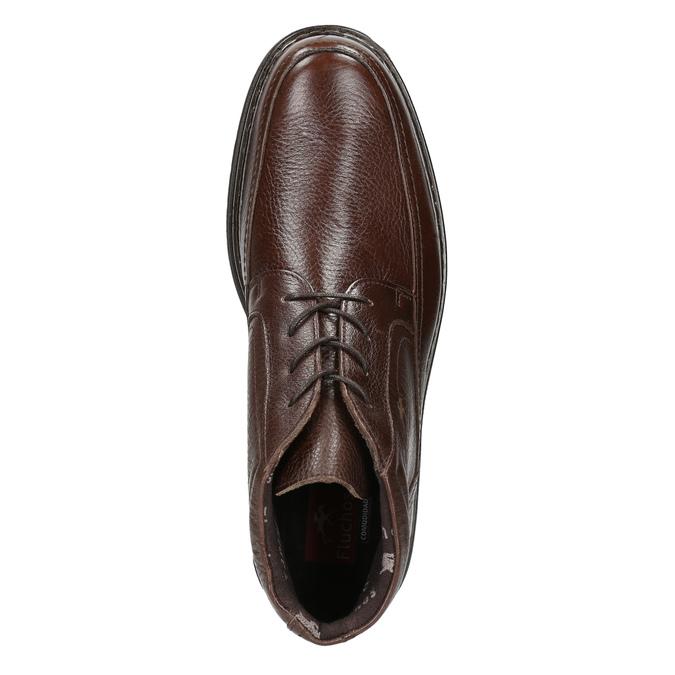 Kožená členková obuv fluchos, hnedá, 824-4450 - 26
