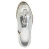 Dámske strieborné kožené poltopánky bata, strieborná, 536-1600 - 17