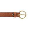 Hnedý dámsky kožený opasok bata, hnedá, 954-4197 - 26