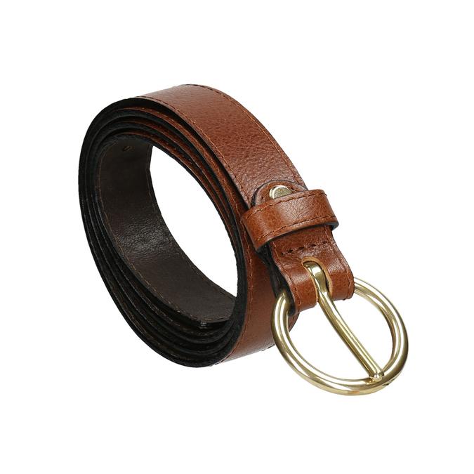 Hnedý dámsky kožený opasok bata, hnedá, 954-4197 - 13