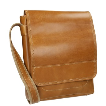 Pánska kožená Crossbody taška bata, hnedá, 964-3283 - 13
