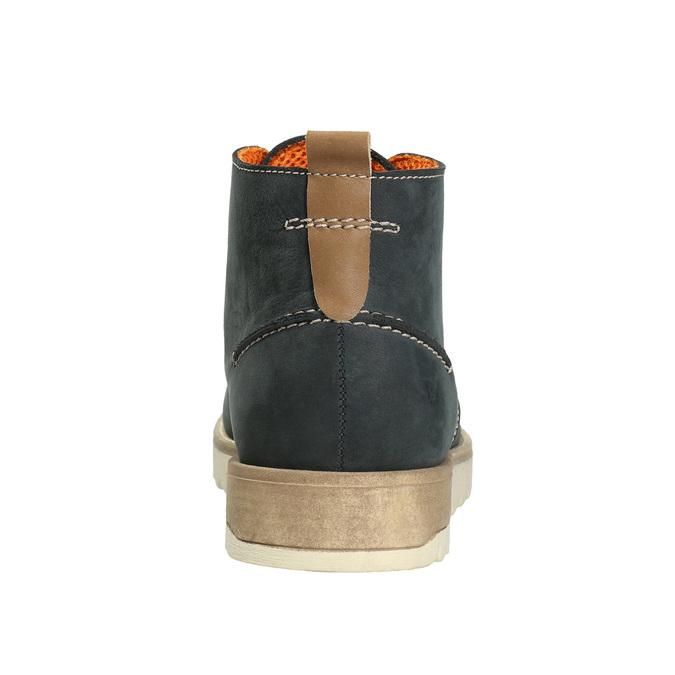 Pánske kožené Chukka Boots weinbrenner, modrá, 846-9629 - 16