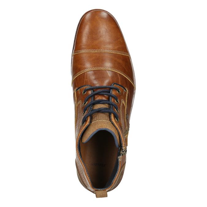 Kožená členková obuv so zipsom bata, hnedá, 826-3911 - 26
