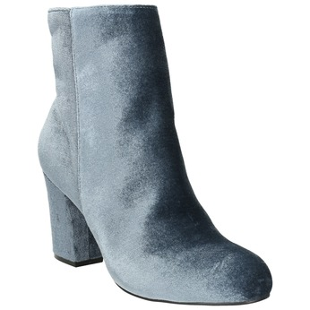 Dámske zamatové čižmy bata, šedá, 799-2616 - 13