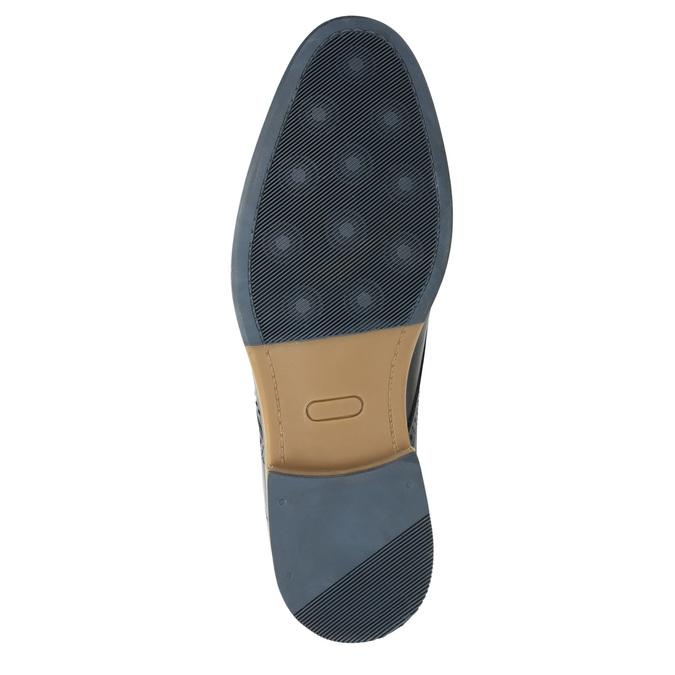 Neformálne kožené poltopánky bata, modrá, 826-9910 - 19