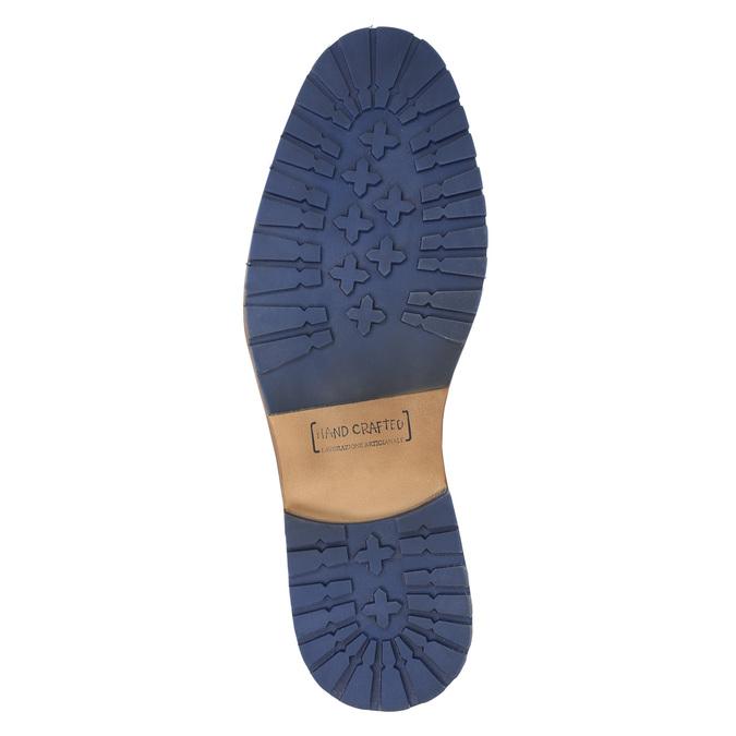 Kožená členková obuv so zipsom bata, modrá, 826-9911 - 19