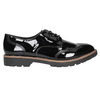 Lakované dámske poltopánky bata, čierna, 521-6606 - 15