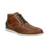 Ležérna členková obuv z kože bata, hnedá, 826-3912 - 13