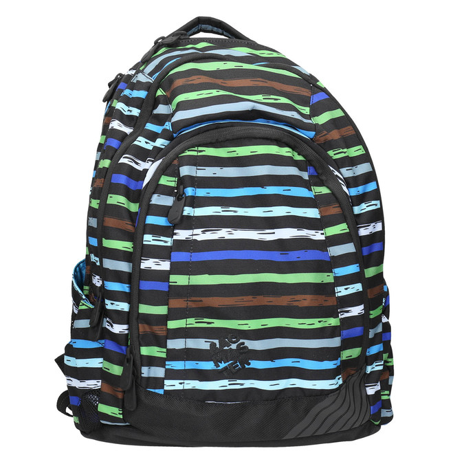 Školský batoh s pruhmi bagmaster, modrá, 969-9651 - 26