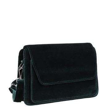 Dámska zamatová Crossbody kabelka bata, zelená, 969-7662 - 13