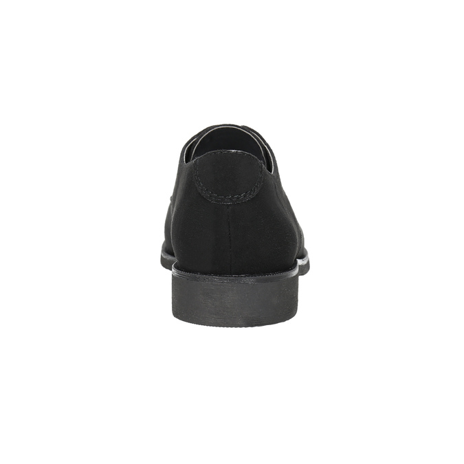 Dámske poltopánky s prešitím bata, čierna, 529-6632 - 17