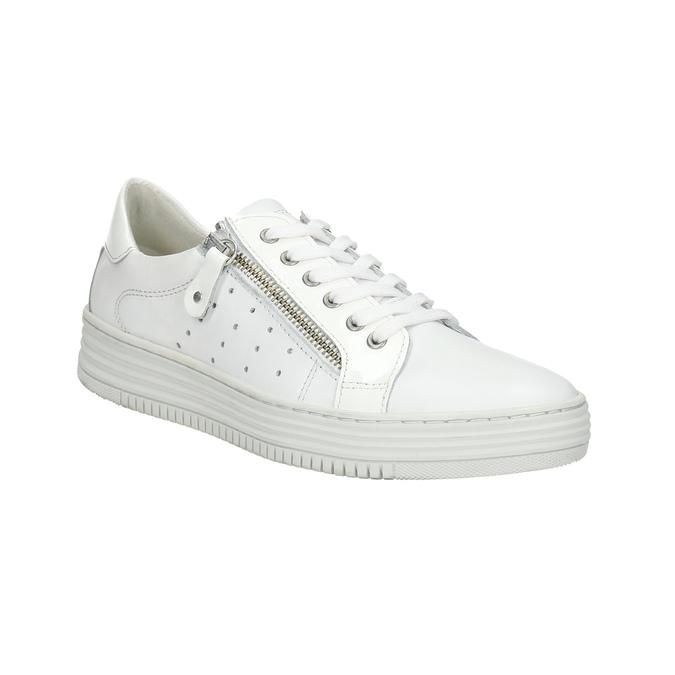 Kožené dámske tenisky so zipsom bata, biela, 526-2630 - 13