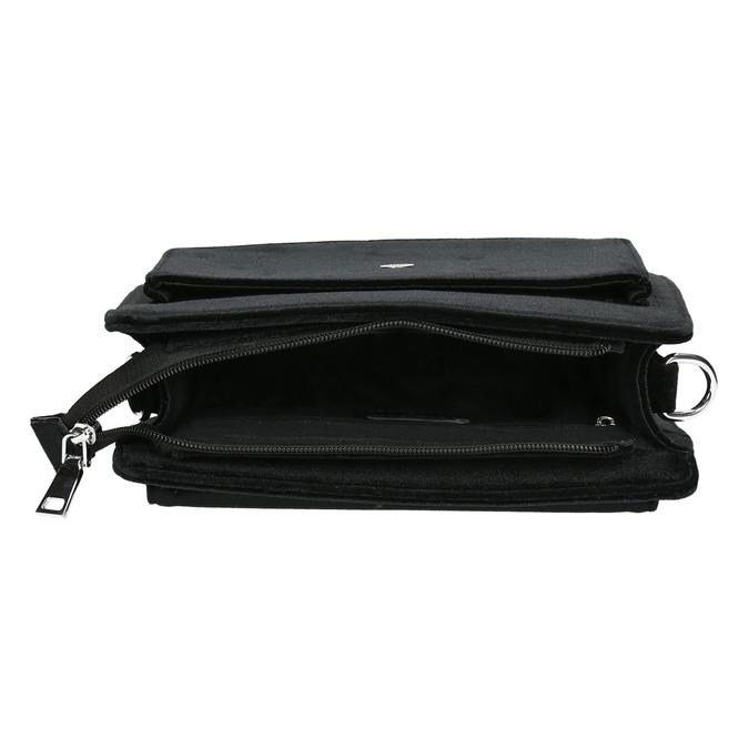 Zamatová dámska Crossbody kabelka bata, čierna, 969-6662 - 15