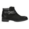 Členkové dámske čižmy s cvokmi bata, čierna, 596-6658 - 26
