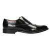 Čierne kožené Oxford poltopánky bata, čierna, 826-6671 - 26