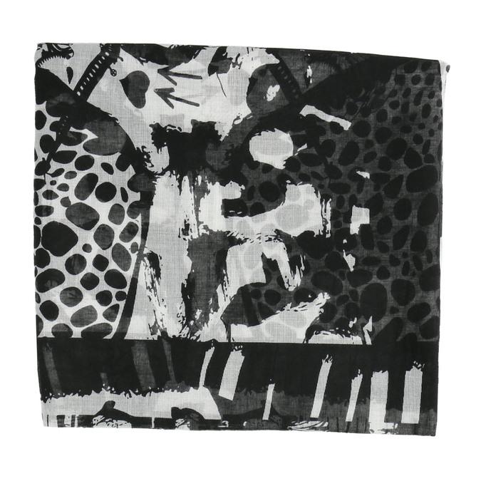 Dámska šatka so vzorom bata, čierna, 909-6626 - 26