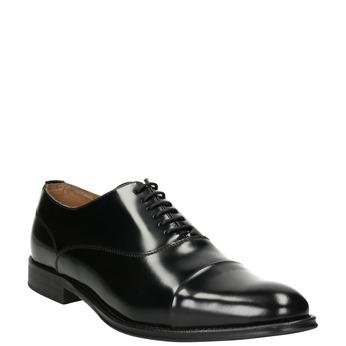 Čierne kožené Oxford poltopánky bata, čierna, 826-6671 - 13
