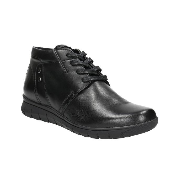 Kožená členková obuv bata, čierna, 524-6605 - 13