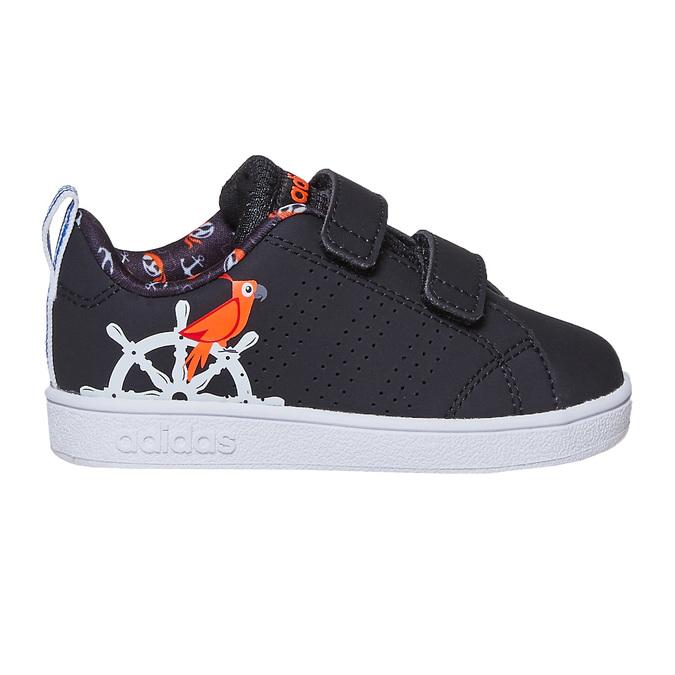 Detské tenisky s potlačou adidas, čierna, 101-6133 - 15