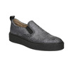 Dámske Slip-on na čiernej flatforme bata, šedá, 516-1613 - 13