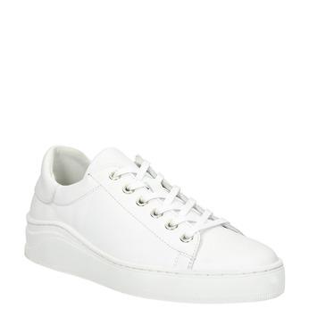 Biele kožené tenisky bata, biela, 526-1641 - 13
