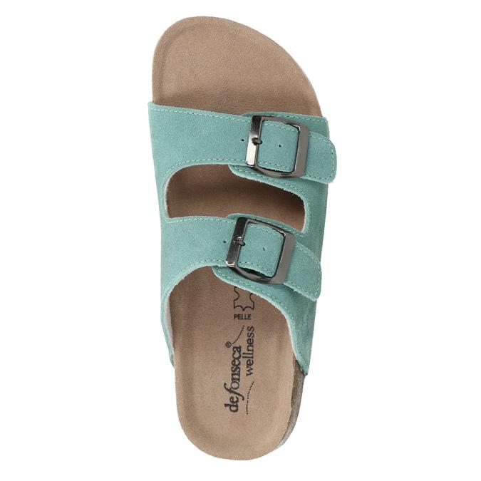 Modré kožené papuče de-fonseca, 573-7621 - 19