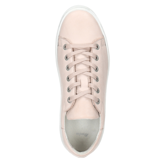 Dámske kožené tenisky bata, ružová, 526-5641 - 15