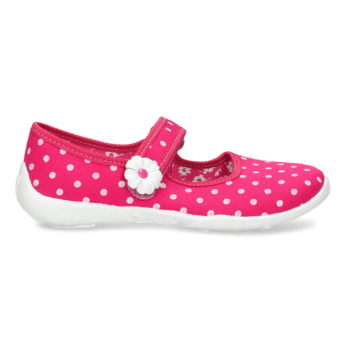 Domáce papuče s bodkami mini-b, ružová, 379-5214 - 19