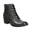 Dámska kožená členková obuv bata, šedá, 696-2627 - 13