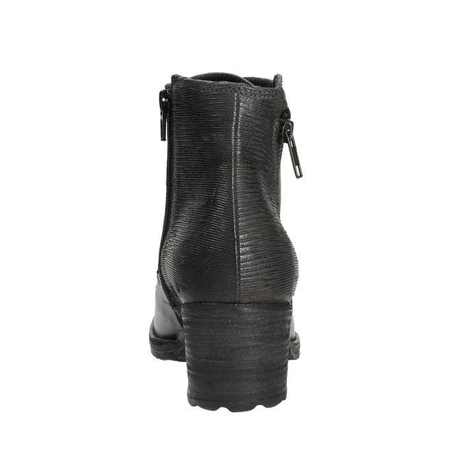 Dámska kožená členková obuv bata, šedá, 696-2627 - 17