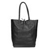 Kožená kabelka v Shopper štýle bata, čierna, 964-6122 - 26