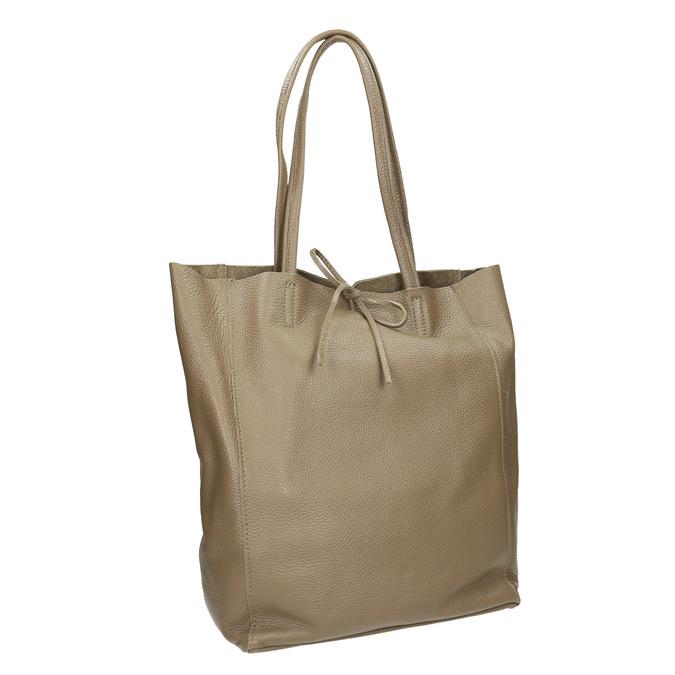 Dámska kožená kabelka s mašľou bata, béžová, 964-2122 - 13