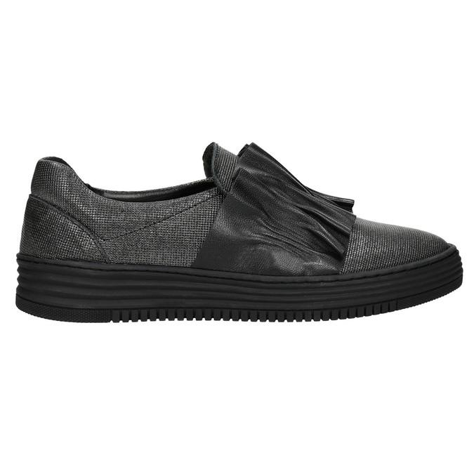 Dámske kožené Slip-on bata, čierna, 516-6614 - 15