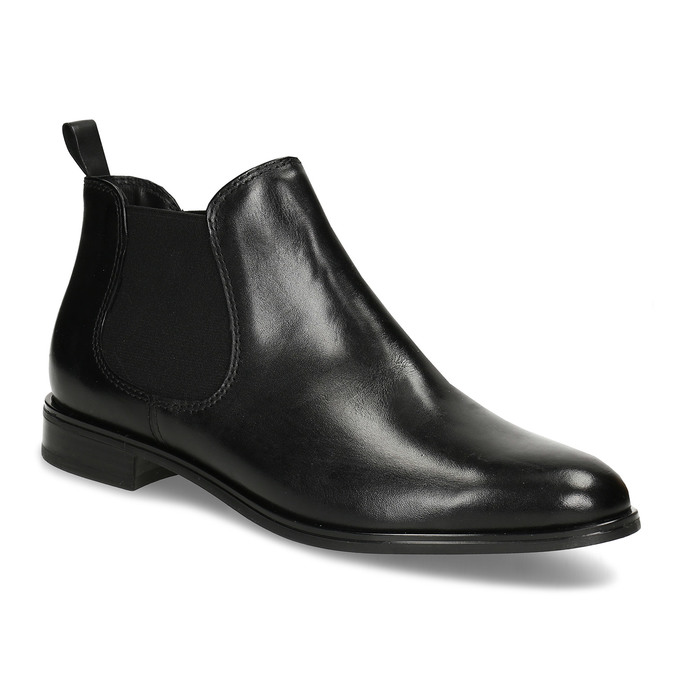 Čierna kožená obuv v Chelsea štýle bata, čierna, 594-6635 - 13