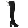 Čierne dámske čižmy nad kolená bata, čierna, 799-6663 - 15