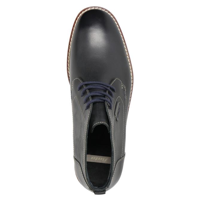 Pánska členková obuv s prešitím bata, čierna, 826-6614 - 19