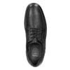 Ležérne kožené poltopánky comfit, čierna, 824-6912 - 26
